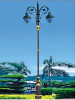 outdoor decorative light pole